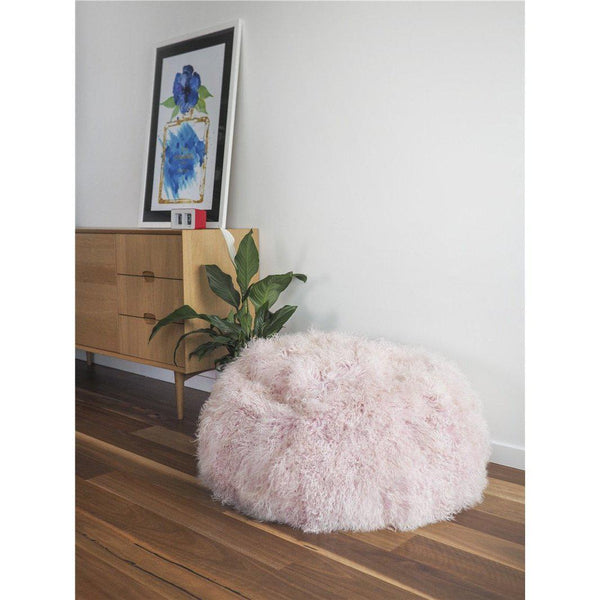 Mongolian Lambskin Bean bag - ROSE QUARTZ - Accessories Yellow Earth Australia NEW ARRIVAL