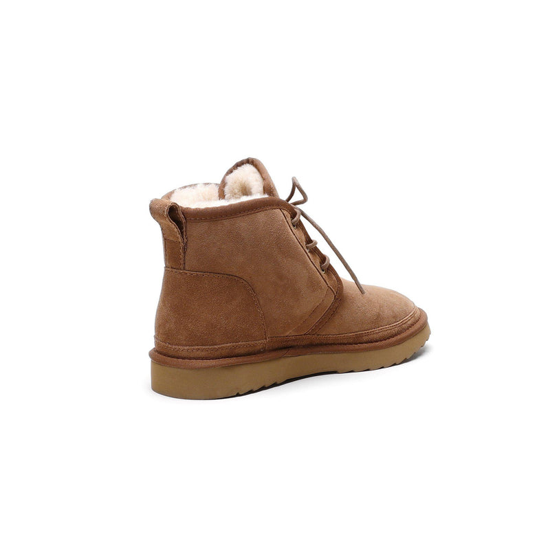 Oliver - Lace-up Casual Sheepskin Boot