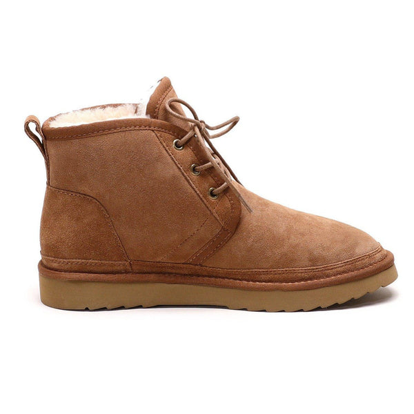 Oliver - Lace-up Casual Sheepskin Boot-Footwear-Y.E. & CO-CHESTNUT-9-Yellow Earth Australia