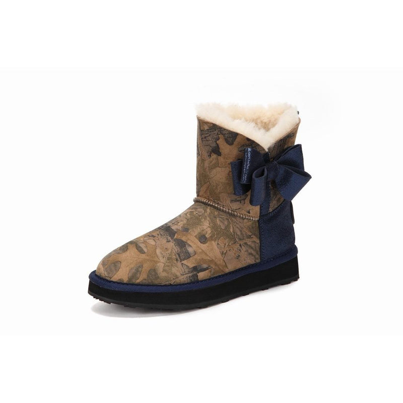 Mackay - Shoes Yellow Earth Australia Australian Genuine Sheepskin Bow Tie Outdoor Sheepskin Boot Ugg