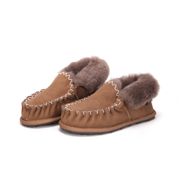 Moccasin Suede Rubber - Shoes Yellow Earth Australia Australian Genuine Sheepskin Moccasin Slippers