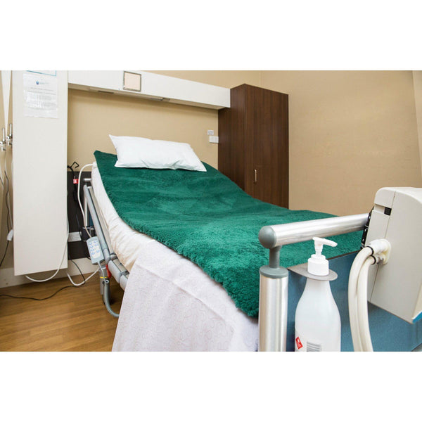 MEDICAL SHEEPSKIN UNDERLAY 70cm X 150cm - GREEN - Meds Yellow Earth Australia medical pressure ulcer