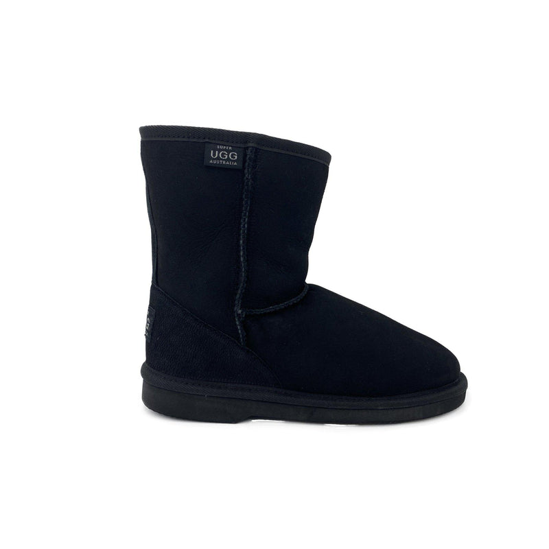 Mandurah - Classic Ugg Boots for Big Kids - BLACK / 1 - Shoes Yellow Earth Australia