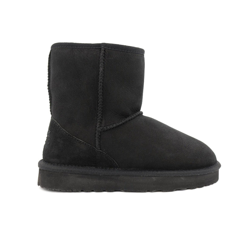 Manly - Classic Sheepskin Ugg Boot - BLACK / Women's 5 - Footwear Yellow Earth Australia 3/4 boot, classic style, low boot, manly, ugg boot