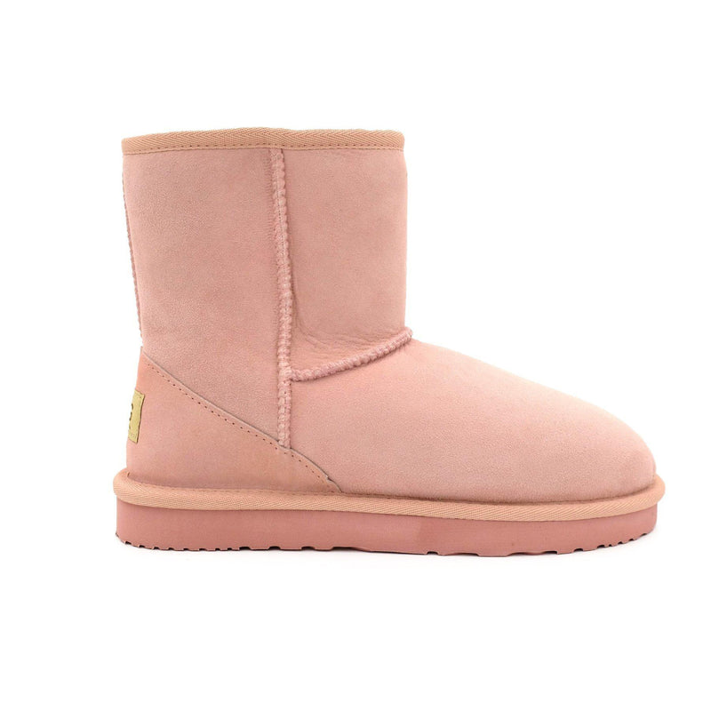 Manly - Classic Sheepskin Ugg Boot - PINK / Women's 5 - Footwear Yellow Earth Australia 3/4 boot, classic style, low boot, manly, ugg boot