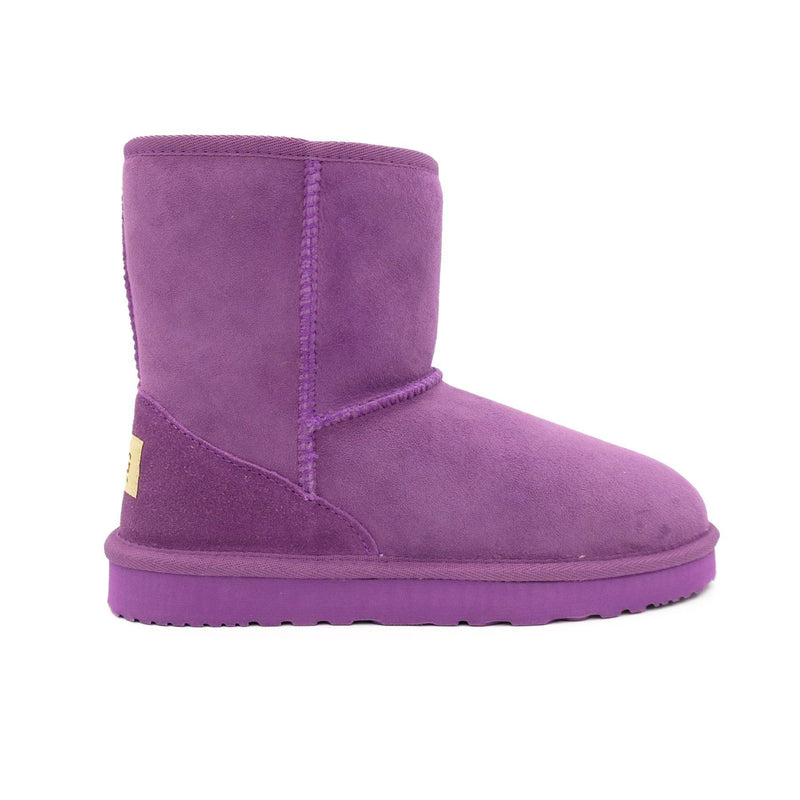 Manly - Classic Sheepskin Ugg Boot - PURPLE / Women's 5 - Footwear Yellow Earth Australia 3/4 boot, classic style, low boot, manly, ugg boot