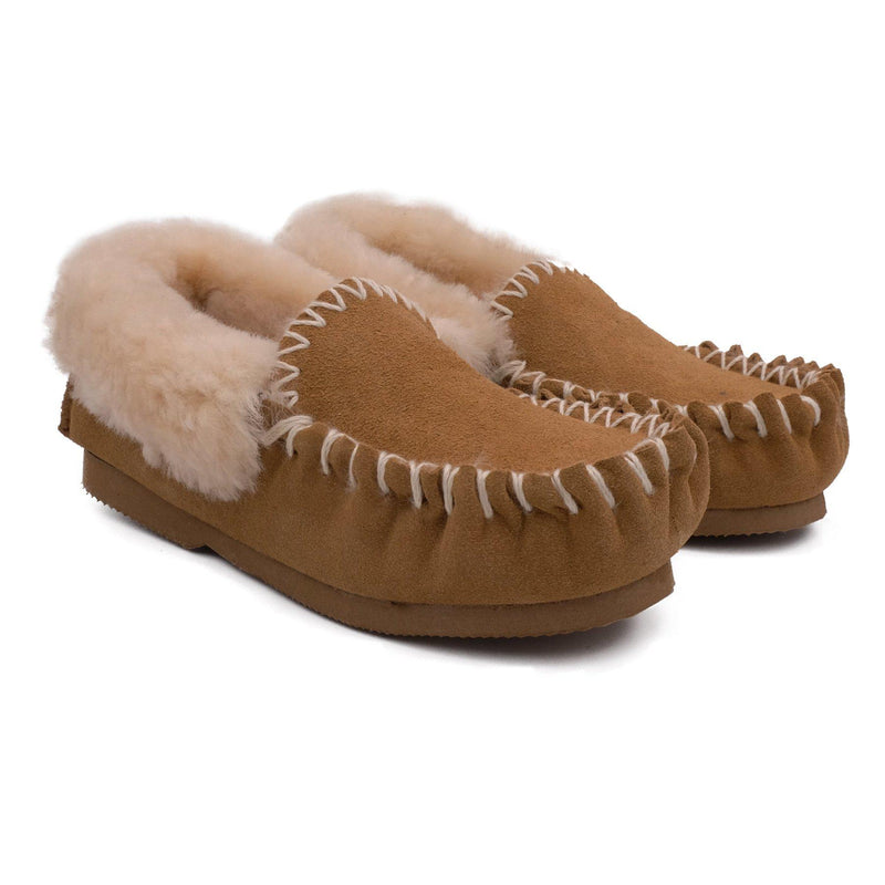 Traditional Sheepskin Moccasin - CHESTNUT / 5 - Footwear Yellow Earth Australia NEW ARRIVAL, Sale