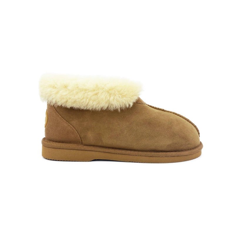 Princess Slipper - Australian Sheepskin Indoor - CHESTNUT / W5 - Footwear Yellow Earth