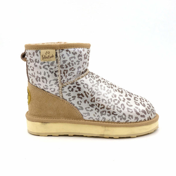 CLASSIC MINI ANIMAL ED - WHITE LEOPARD / 35 - Footwear Yellow Earth Australia glamour leopard metallic print Sale