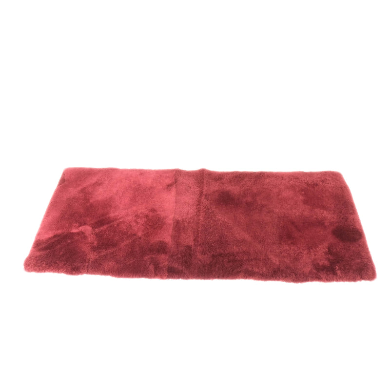 Burgundy Red - Rectangle Sheepskin Rug - 130cm x 60cm