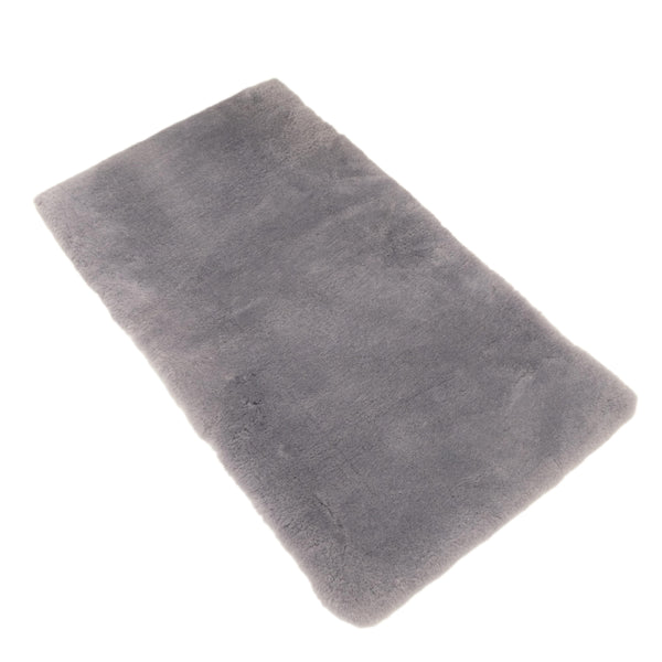 Silvery Grey - Rectangle Sheepskin Rug - 130 X 60 CM