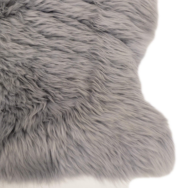 Cloudy Grey - Large Long Wool Rug - Australian Merino Sheepskin-Sheepskin Rug-Yellow Earth Australia-Yellow Earth Australia