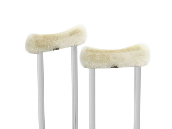 Arm Crutch Covers - Australian Made - Genuine Sheepskin