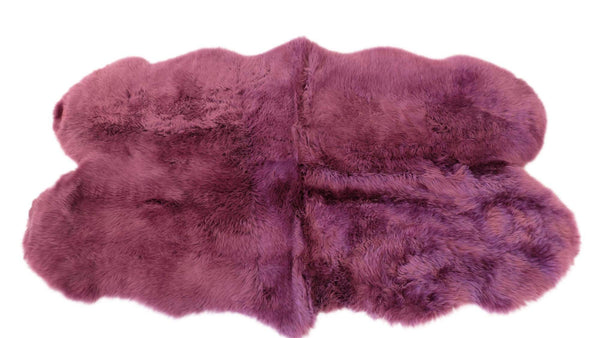 Plum - Quad 180 x 110cm - Long Wool Rug - Australia Merino Sheepskin-Sheepskin Rug-Yellow Earth Australia-Yellow Earth Australia