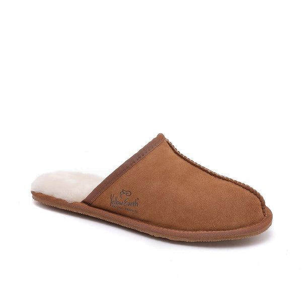 Premium Men's Scuff - Australian Sheepskin - Flexible rubber sole