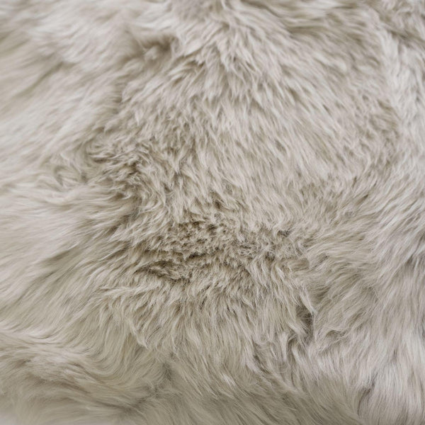 Glacier Grey - Double 180 x 65cm - Long Wool Rug - Australian Merino Sheepskin Rug