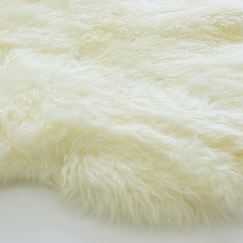 Ivory - Double Length 180 x 65cm - Long Wool Rug - Australian Merino Sheepskin Rug