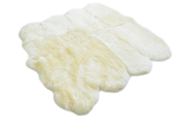 Ivory - Octo Sized (180x180cm) - Long Wool Rug - Australian Merino Sheepskin-Rug-Yellow Earth Australia-Yellow Earth Australia