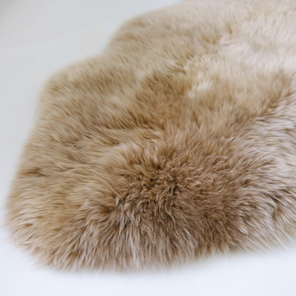 NEW COLOUR - Toffee - XXL - Long Wool Rug - Australian Merino Sheepskin-Sheepskin Rug-Yellow Earth Australia-Yellow Earth Australia