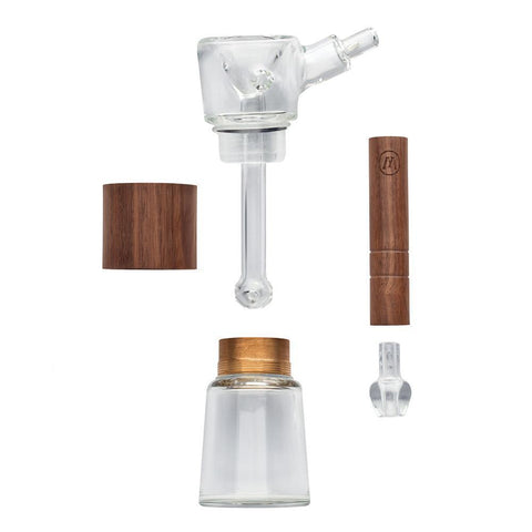 Marley Glass and Walnut Wood Bubbler  |  Pipes  |  Smoke Pot Canada
