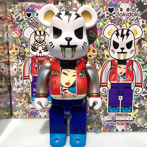 Medicom Be@rbrick Tokidoki Electric Tiger 400% Limited Edition Action City Exclusive