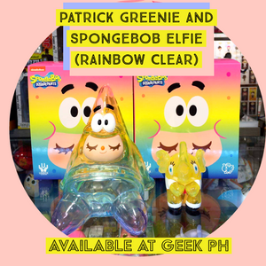 Unbox Industries Spongebob Greenie and Elfie set ( Rainbow Clear Version)