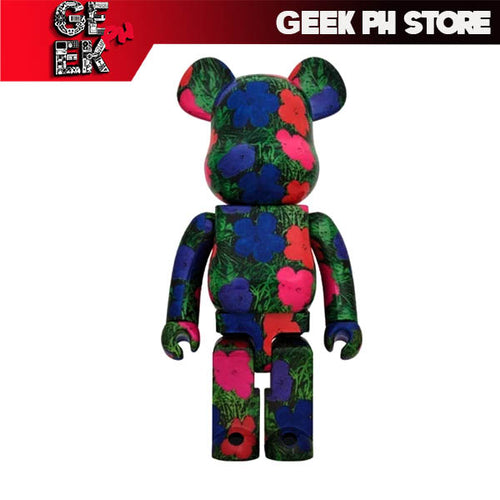 "Medicom BE@RBRICK ANDY WARHOL ""Flowers"" 1000%  Bearbrick"