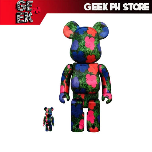 "Medicom BE@RBRICK ANDY WARHOL ""Flowers"" 100% & 400% set  Bearbrick"