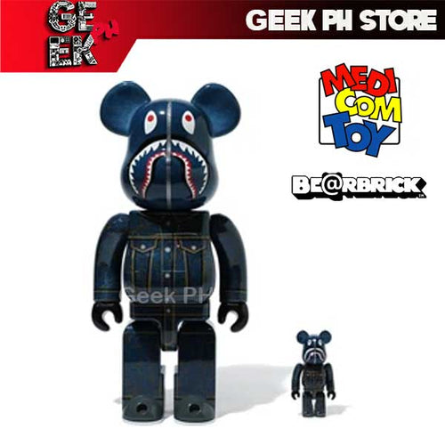 Medicom BE@RBRICK BAPE x LEVI'S 400 and 100% Bearbrick