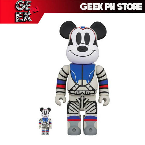 Medicom Toy x Billionaire Boys Club: Bearbrick - Astronaut Mickey Mouse 100% + 400%