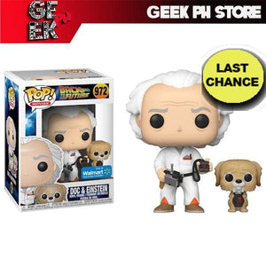 Funko POP! & Buddy: Back To The Future - Doc with Einstein  ( Walmart Exclusive ) with FREE protector