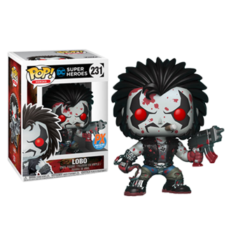 Funko Pop! DC Comics - Pop! Heroes PX Previews Bloody Lobo #231 POP! Heroes PX Previews Bloody Lobo #231
