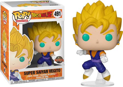 Funko Pop! Dragon Ball Z - Super Saiyan Vegito Pop! Vinyl Figure  International Exclusive Sticker