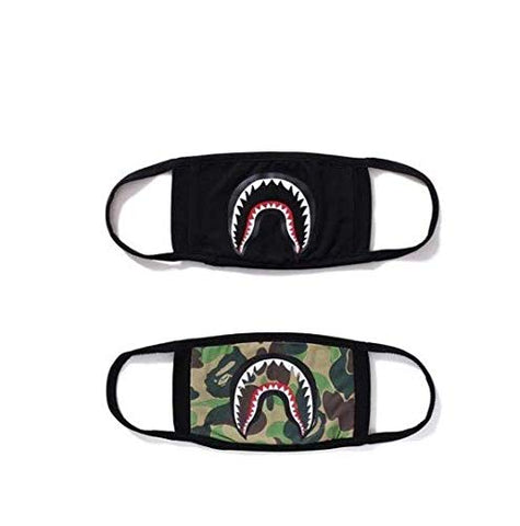 2-pack Shark Face Mask