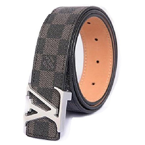 Louis Vuitton Damier Ebene Belt w/ Silver Buckle