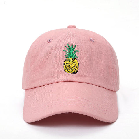 Embroidered Pineapple Hat