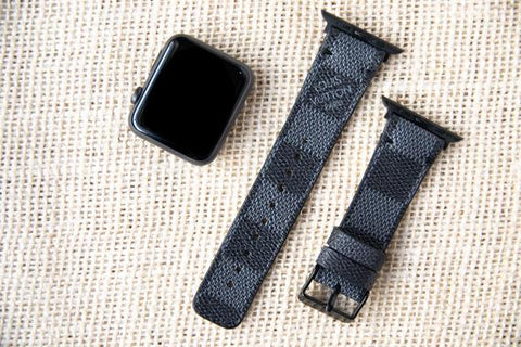 Louis Vuitton Damier Graphite Apple Watch Straps