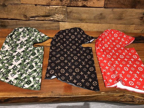 Custom Louis Vuitton Face Mask Brown Ski Mask Snowboard Monogram NOT Du Rag Bandana Scarf
