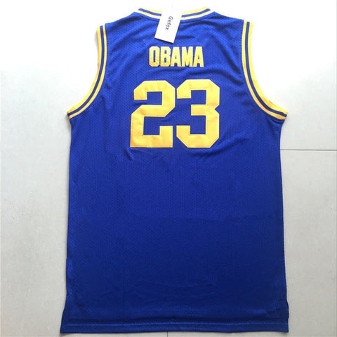 Barack Obama #23 Punahou High School Jersey - Primo Jerseys