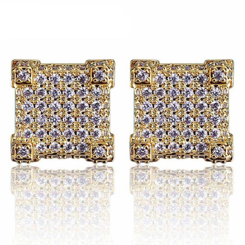 Iced Micro Pave Square Stud Earring - Primo Jerseys