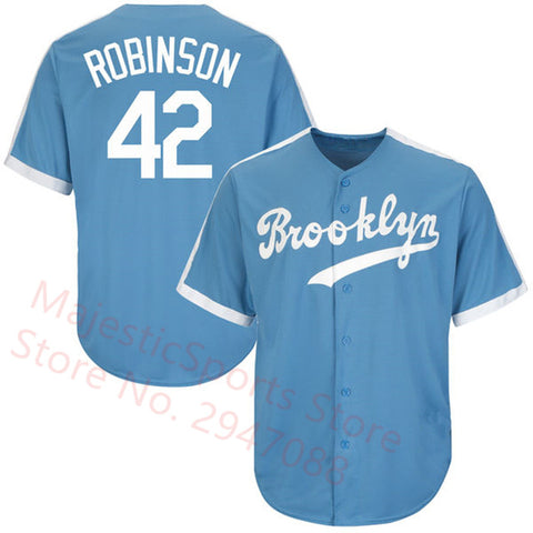 Jackie Robinson #42 Throwback LA Dodgers Jersey - Primo Jerseys
