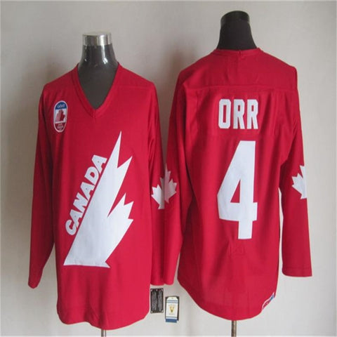 Bobby Orr #4 1981 Team Canada Throwback Jersey - Primo Jerseys
