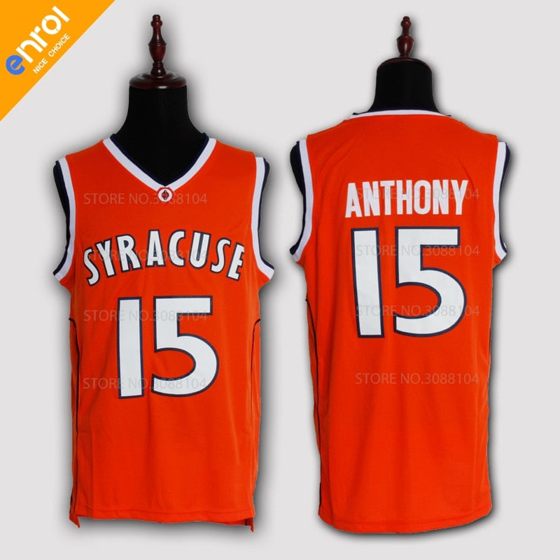 Carmelo Anthony  15 Syracuse University Throwback Jersey - Primo Jerseys 5b9bb8679