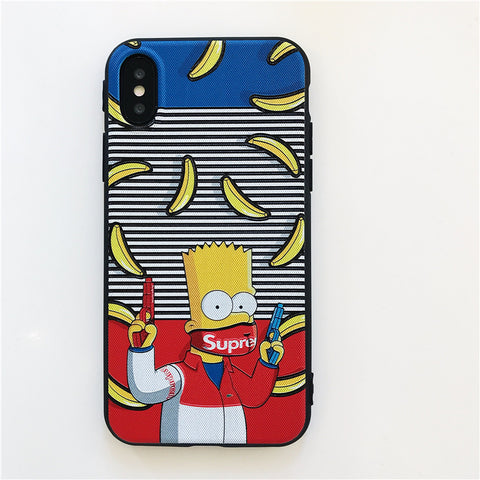 Bart Simpson x Supreme iPhone Case - Primo Jerseys