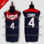 Throwback Stephen Curry 4# James Harden 13# Carmelo Anthony 15# Team 2008 and 2014 Commemorative Stitched USA Basketball Jersey - Primo Jerseys