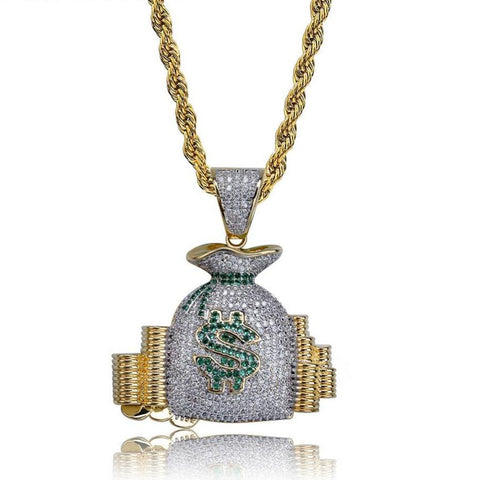 Iced Money Bag w/ Chain