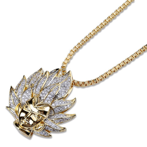 "Dragon Ball Z  Iced ""Super Saiyan"" Chain"