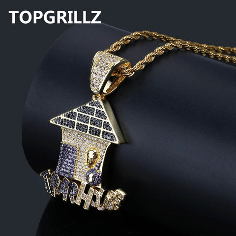 "Iced ""Trap House"" Pendant w/ Chain"