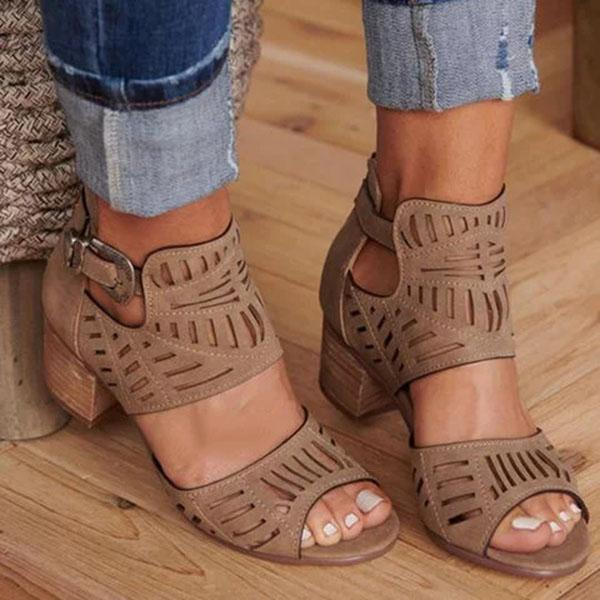Romwears Women Adjustable Buckle Sandals