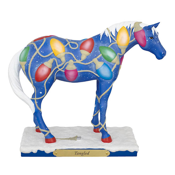trail of painted ponies Tangled christmas horse figurine